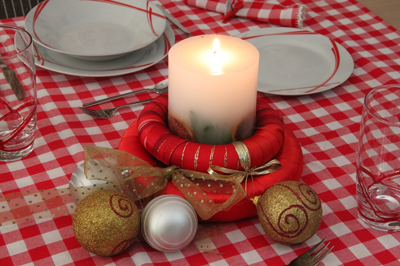 chrismas table art red 4