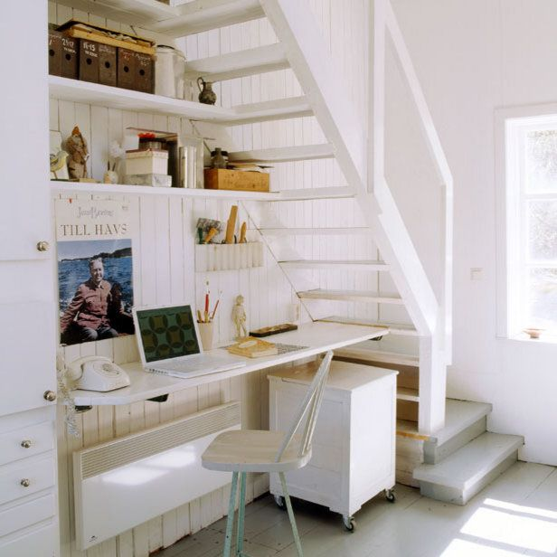 home office under the stairs 2