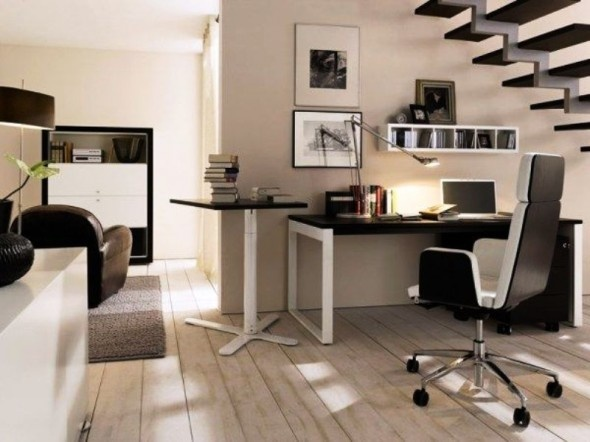 home office under the stairs 3