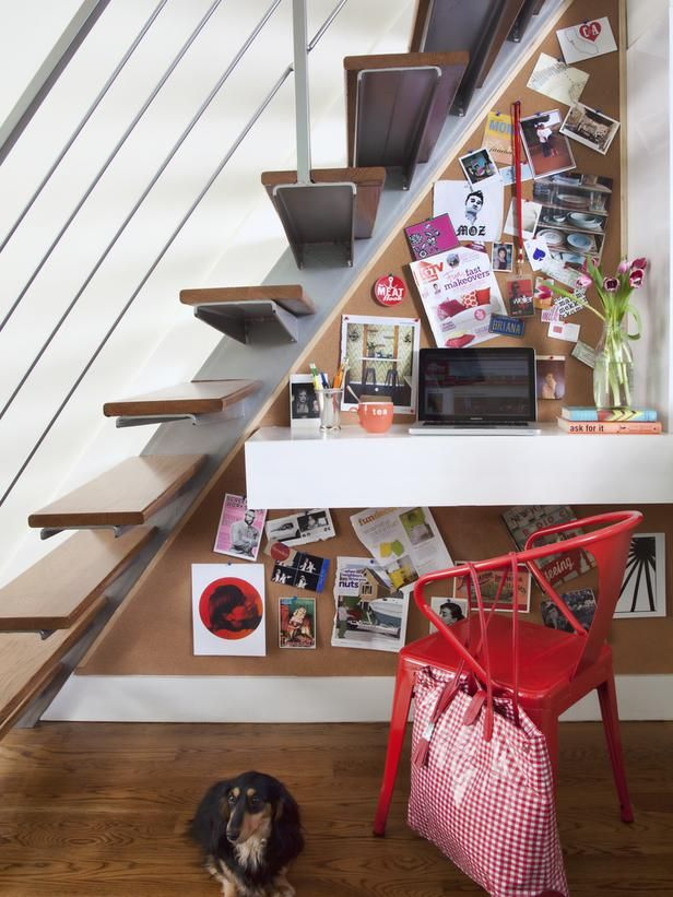 home office under the stairs 4