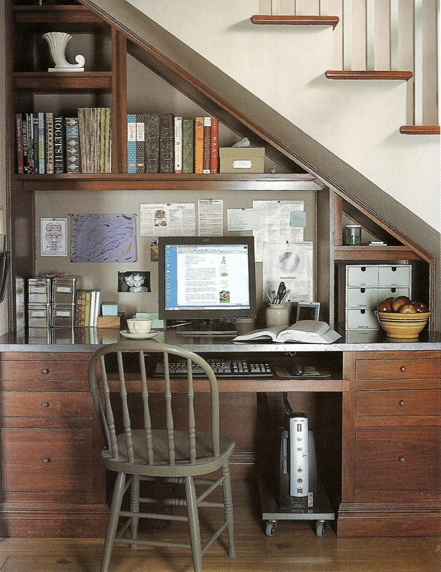 home office under the stairs 7