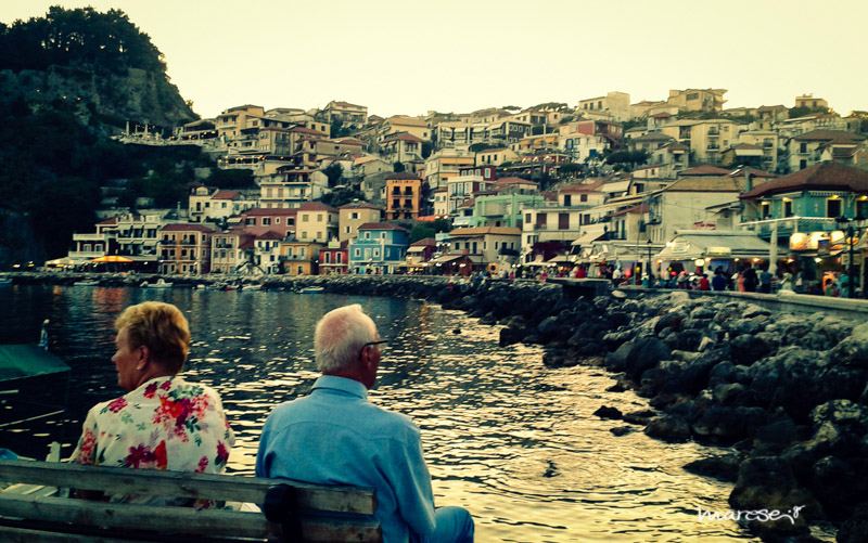 old couple looking at the view