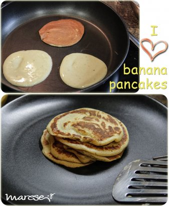 I love banana pancakes